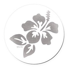 Hawaiian Flower Round Car Magnet