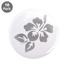 "Hawaiian Flower 3.5"" Button (10 pack)"