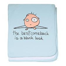 The Blank Look baby blanket