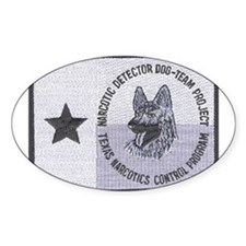 Texas K9 Narc Oval Decal