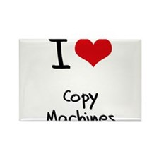 I love Copy Machines Rectangle Magnet