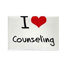 I love Counseling Rectangle Magnet