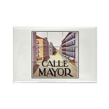 Calle Mayor, Madrid - Spain Rectangle Magnet (10 p