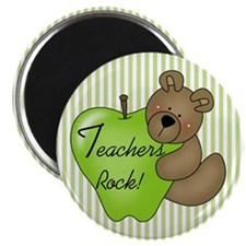 "Teachers Rock (Bear) 2.25"" Magnet (10 pack)"