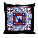 Patriotic Quilt Shirt Throw Pillow