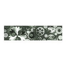 Steel gears Wall Decal