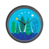 Tree Leaves Wall Clock