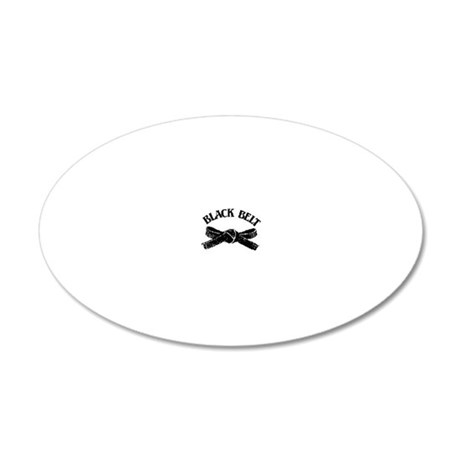 Black Belt 35x21 Oval Wall Decal