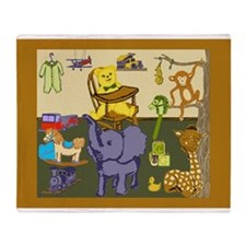 Baby Boy Room of Animals Toys Throw Blanket