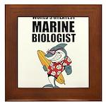 Worlds Greatest Marine Biologist Framed Tile