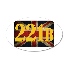 221B Flag Wall Decal