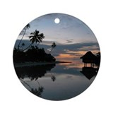 Tahiti Sunset Ornament (Round)