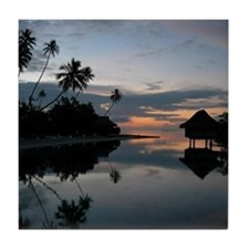 Tahiti Sunset Tile Coaster