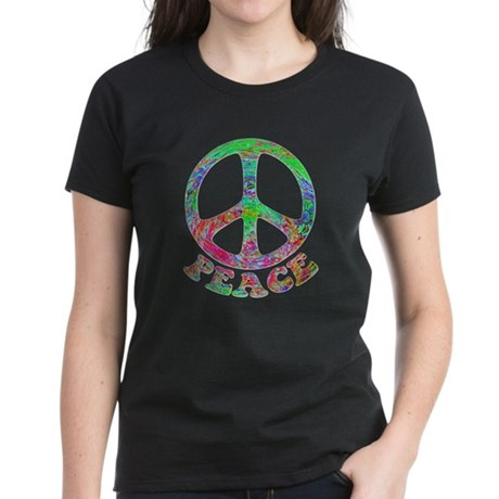 Swirling Peace Women's Dark T-Shirt