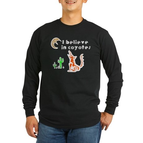 Believe in Coyotes Long Sleeve Dark T-Shirt