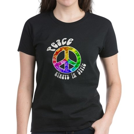 Peace Always in Style Women's Dark T-Shirt
