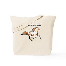 Custom Running Horse Tote Bag