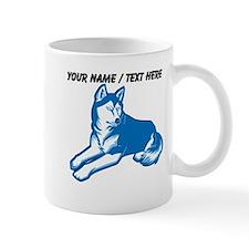 Custom Blue Husky Mug