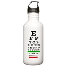 CP duvet cover eye chart Water Bottle