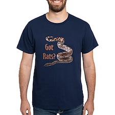 Snake Boa Got Rats Navy T-Shirt (center)