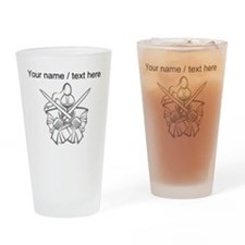 Custom White Knight Mascot Drinking Glass