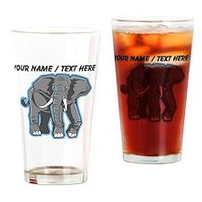 Custom Elephant Mascot Drinking Glass