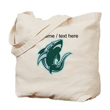 Custom Mean Shark Tote Bag