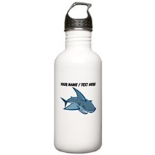 Custom Blue Shark Cartoon Water Bottle