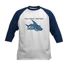 Custom Blue Shark Cartoon Baseball Jersey