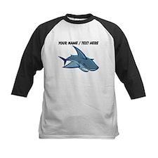 Custom Blue Shark Cartoon Baseball Jersey
