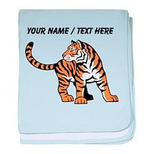 Custom Bengal Tiger Cub baby blanket