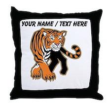 Custom Bengal Tiger Mascot Throw Pillow