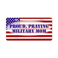 Military Mom Aluminum License Plate