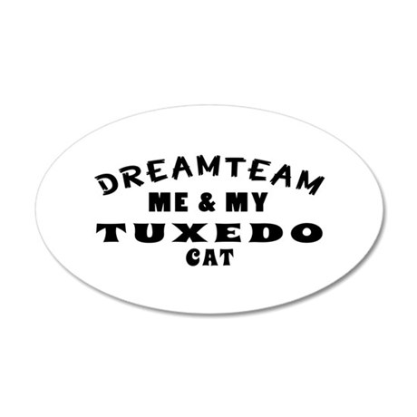 Tuxedo Cat Designs 35x21 Oval Wall Decal