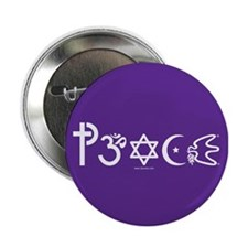 "Peace-OM 2.25"" Button (100 pack)"