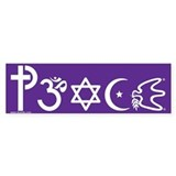 Peace-OM Bumper Bumper Sticker