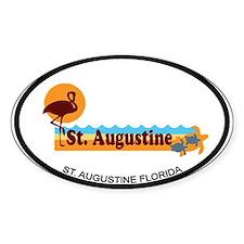 St. Augustine - Beach Design. Decal