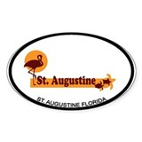 St. Augustine - Beach Design. Decal