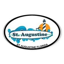 St. Augustine - Palm Surf Design. Decal