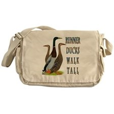 Runner Ducks Walk Tall Messenger Bag