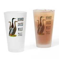 Runner Ducks Walk Tall Drinking Glass
