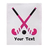 Hockey girl Blankets