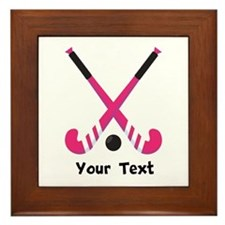 Personalized Field Hockey Framed Tile