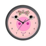 Such A Pretty Pig Wall Clock