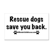 Rescue dogs Rectangle Car Magnet