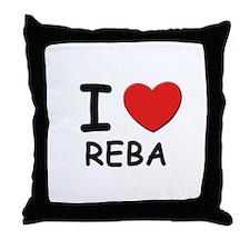 I love Reba Throw Pillow