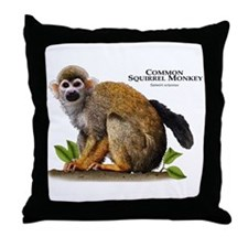 Common Squirrel Monkey Throw Pillow