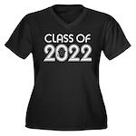 Class of 2022 Grad Women's Plus Size V-Neck Dark T
