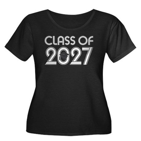 Class of 2027 Grad Women's Plus Size Scoop Neck Da