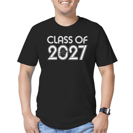 Class of 2027 Grad Men's Fitted T-Shirt (dark)